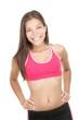 Happy fitness woman portrait