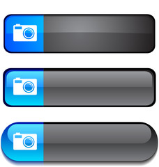 Photo  web buttons. Vector illustration
