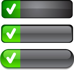 Check   web buttons. Vector illustration.