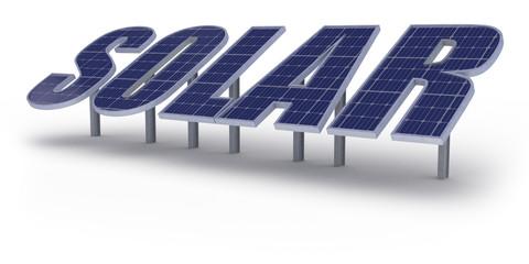SOLAR - isolated on white