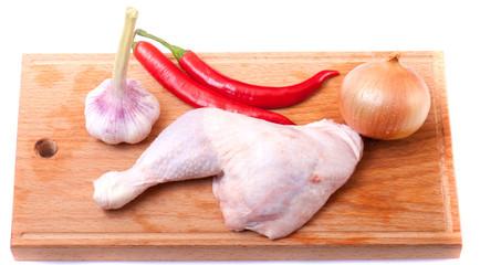 uncooked chicken