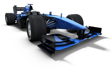 race car - black and blue