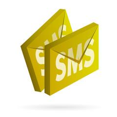 sms vector 3d icon