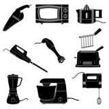 Kitchen appliances poster