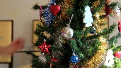 étoile sur le sapin de Noël