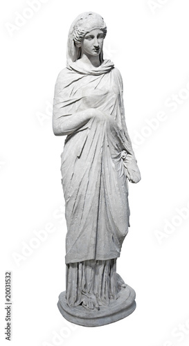 Ancient marble statue of a young woman