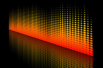 Abstract Halftone wave reflection