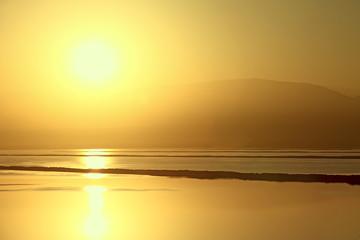 Golden dawn of the Dead Sea