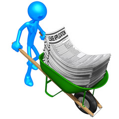 Carrying Lease Applications In A Wheelbarrow
