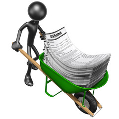 Carrying 401K Forms In A Wheelbarrow