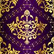 Gold-on-Purple seamless Indian sari pattern