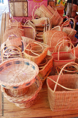 a lot of baskets on the table