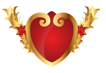 Ornamental golden heart