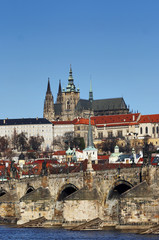 Hradcany - cathedral of St Vitus and Charles bridge
