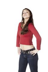 jeune femme posant fierté