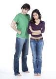 jeune couple parents désapprobation poster