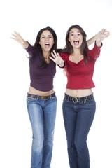 deuc jeunes femmes supportrices