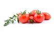 Red tomatos  isolated on white background