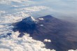 Popocatepetl volcano Mexico DF city aerial view