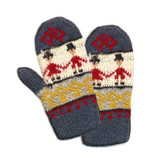 Needlework. Knitted mittens poster