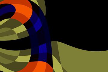 fondo geometrico negro y colores