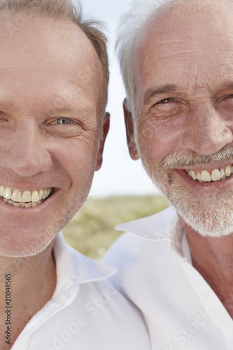 Two men close up