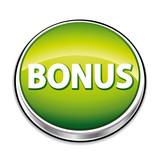 Green bonus button poster