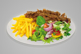 Döner Teller mit Salat
