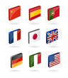 vector 3d world flags icons