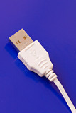 Close-up of a USB connection cable poster