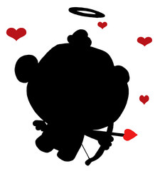 Black Silhouette Of Cupid