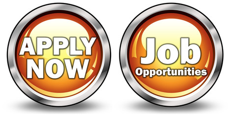 "Glossy 3D Style Buttons ""Apply Now/Job Opportunities"""