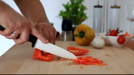 Paprika schneiden