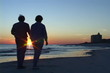 Mature Couple At Sunset