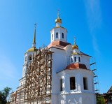 Russian Orthodox Church under construction