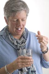 Women taking medicene