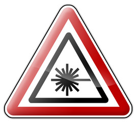 "Warning Sign ""Laser"""