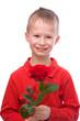 Junge mit Rose