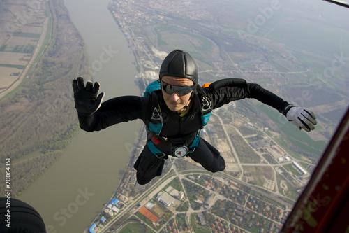 Fotobehang Luchtsport Skydiver