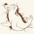 seehund robbe cartoon lustig maskottchen