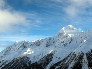 Swiss Alps glacier / Schneebedeckter Gletscher in der Schweiz
