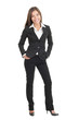 Young beautiful businesswoman isolated