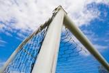 STADIUM - Football goal corner on blue sky poster