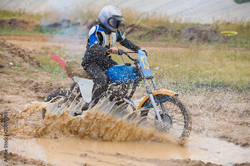 Young moto cross rider