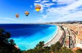 aerial view of beach in Nice