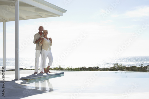 Retired couple at their beach house
