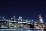 Brooklyn Bridge and Manhattan Skyline At Night, New York City - 20070933