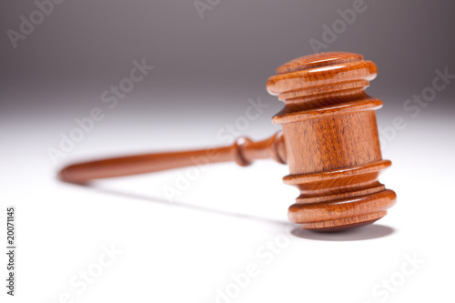 Gavel on Gradated Background