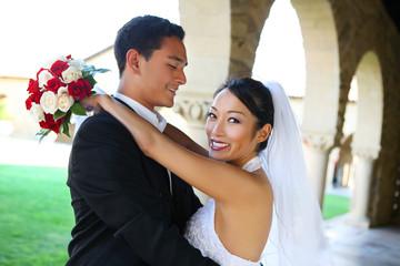Groom and Bride at Wedding