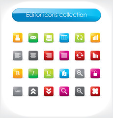 Editor icons collection. Vector.